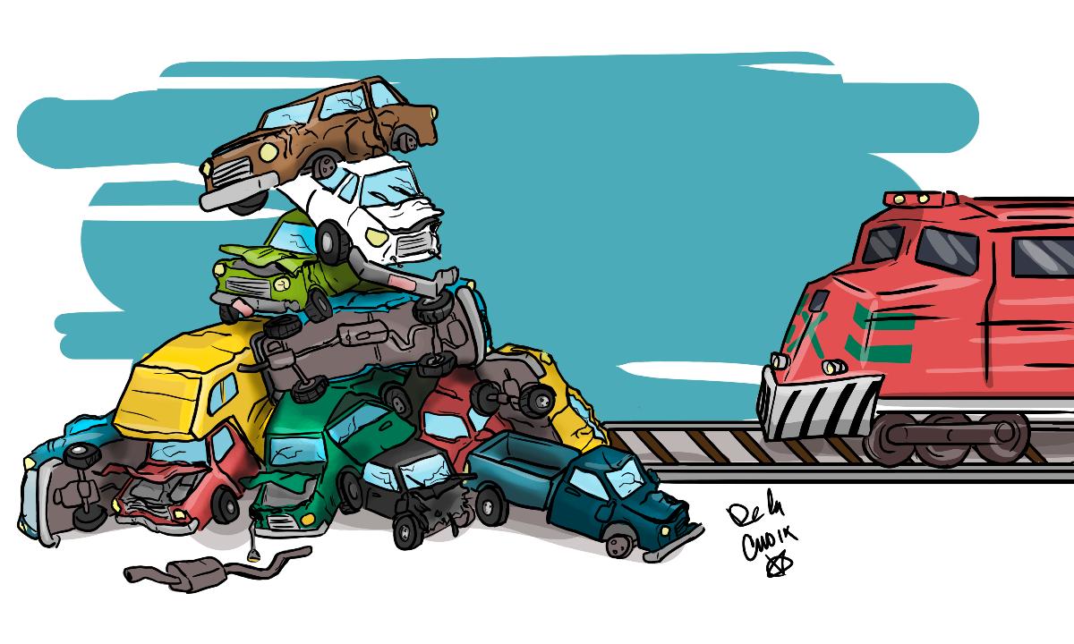 ¡Cuidado con el tren! Arrollamiento de autos es el principal accidente ferroviario