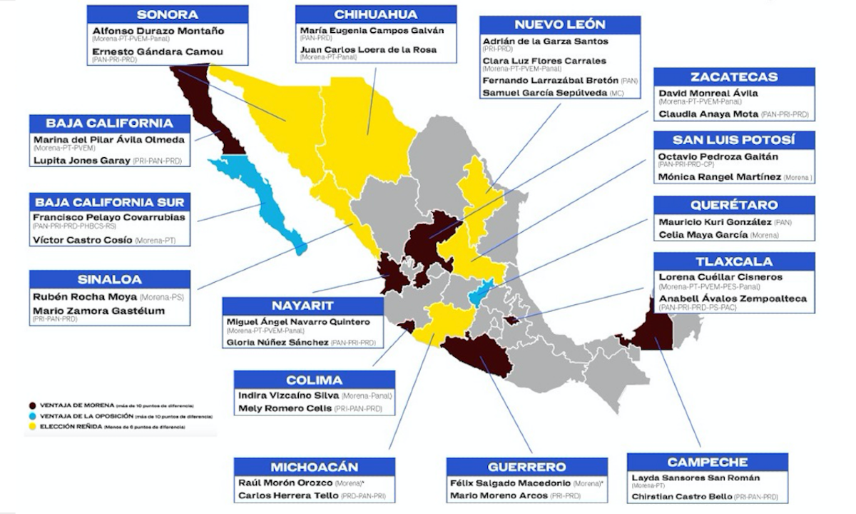 estados donde habrá más disputa electoral.