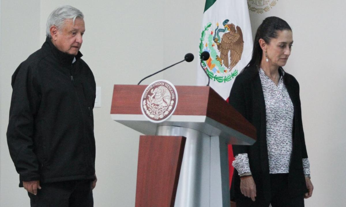 Baja popularidad de López Obrador y Sheinbaum.