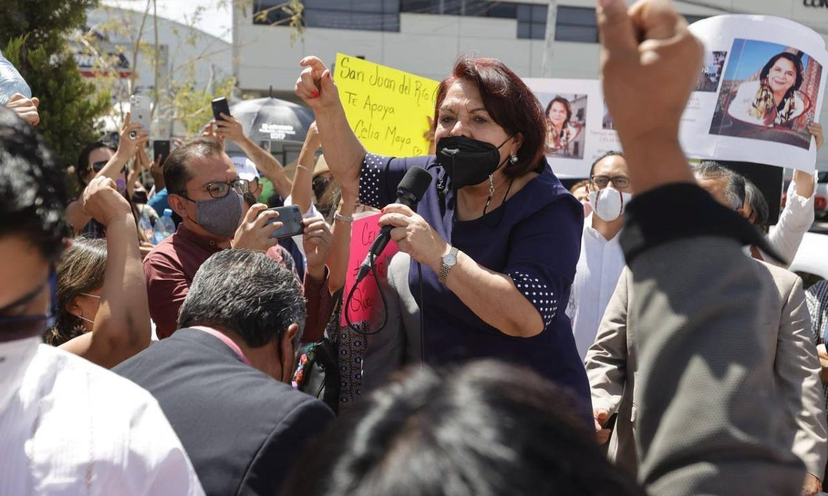 """Ni abrazos, ni balazos"". Celia Maya sorprende en territorio hostil para Morena: Querétaro"