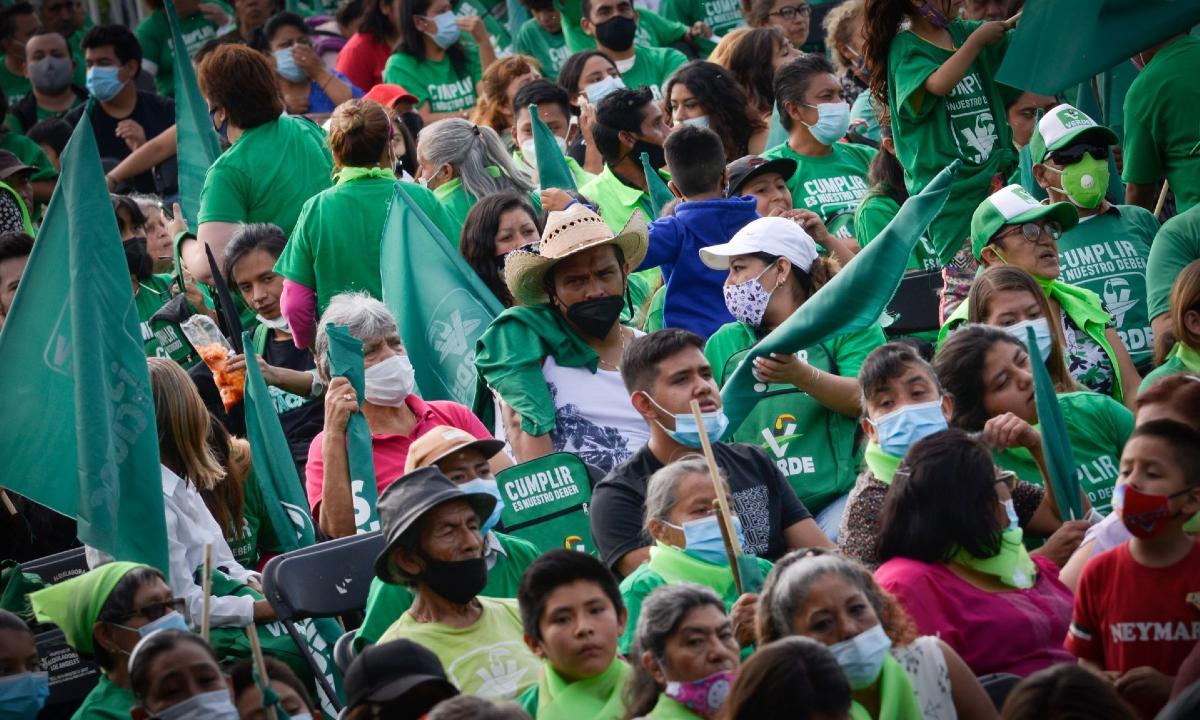 Partido Verde: posible pérdida de registro.