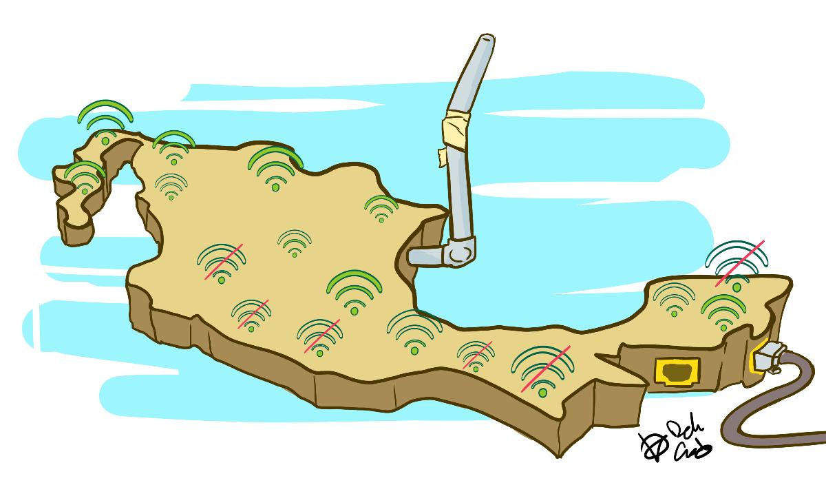 Medio México está rezagado en acceso a internet y celulares, revela estudio